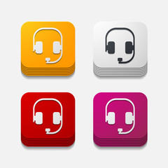 square button: headphones