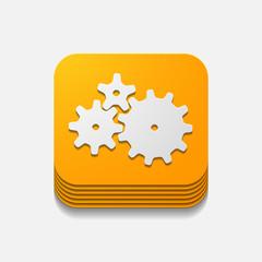 square button: cogwheel