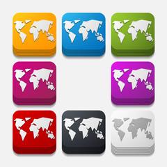 square button: map