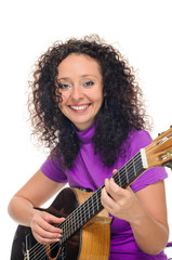 woman guitarist and singer