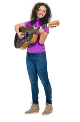 guitar woman player