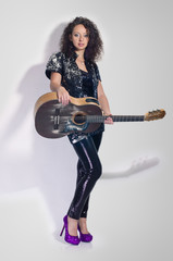 guitar woman player fashion