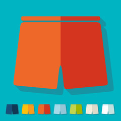 Flat design: trunks