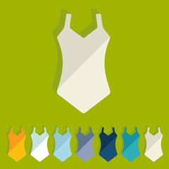 Flat design: swimsuit