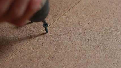 screw twists on the floor