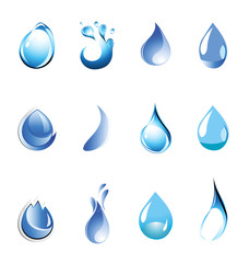 Water Symbol Set. Icon Vector Illustration