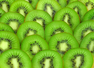 background with beautiful green kiwi