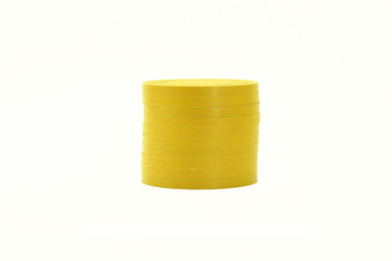 Yellow Casino Poker Chips Stacked