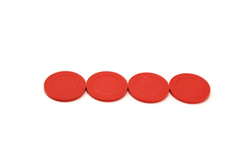 Red Casino Poker Chips - Row