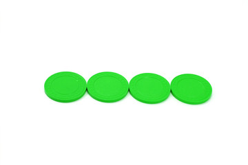 Green Casino Poker Chips - Row