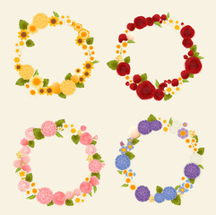Sweet flower wreath card