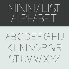 Minimalist alphabet. Font design.