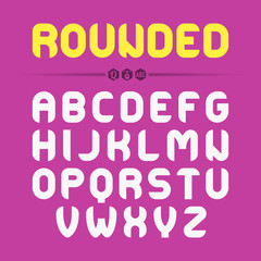 Rounded font design. Ideal for titles, posters, t-shirts etc.