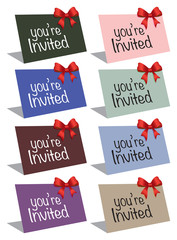 Invitation colorful cards