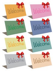 Vector welcome cards