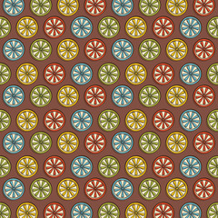 retro lemon pattern background vector