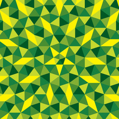 creative triangular design green shade pattern background vector