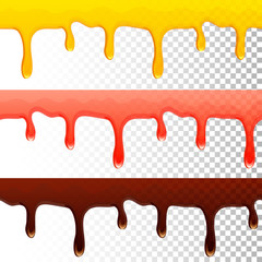 honey jam chocolate seamless transparent drips