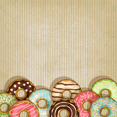 retro background with donut