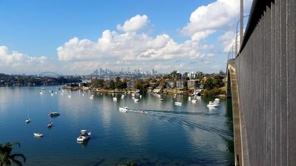 Gladesville Marina and Sydney CBD