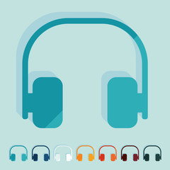 Flat design: headphones