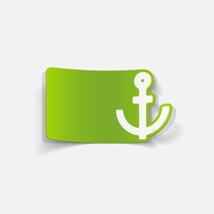 realistic design element: anchor