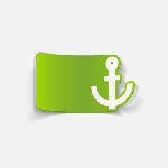 realistic design element: anchor
