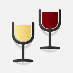 realistic design element: wine