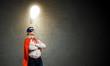 Brave superhero