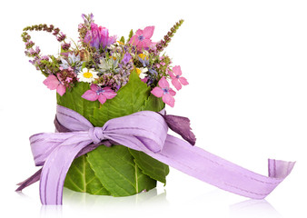Flower arrangement, table decoration, present