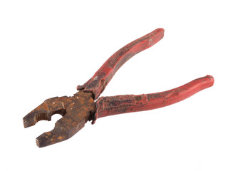Old rusty pliers.