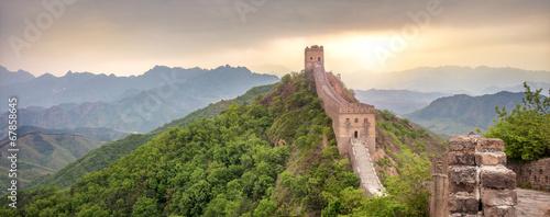 In de dag Oude gebouw Chinesische Mauer