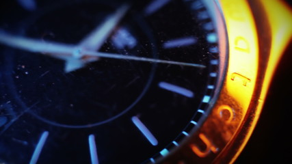 hands of clock, macro