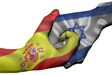 Handshake between Spain and Israel