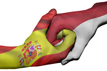 Handshake between Spain and Indonesia