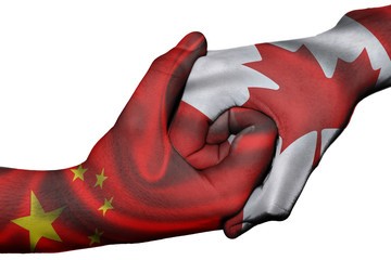 Handshake between China and Canada