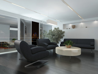 Modern lounge or waiting room interior