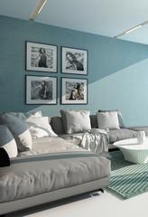 Comfortable contemporary lounge interior