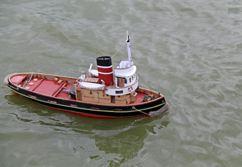 A Radio Controlled Model of a Tug Boat.