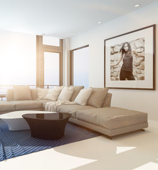 Modern comfortable living room interior
