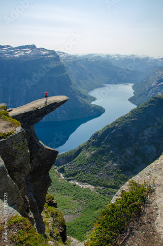 View of Trolltunga to fjord - Norway - 67859223