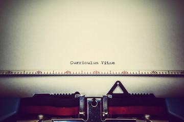 type curriculum vitae