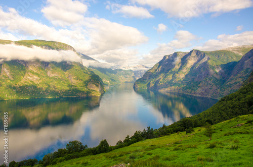 Sogne Fjord in Clouds in Norway - 67859655