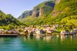 Leinwandbild Motiv Aurlandsfjorden - Undredal in Norway