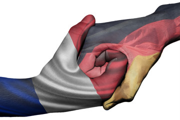 Handshake between France and Germany
