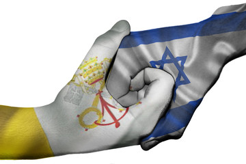 Handshake between Vatican City and Israel