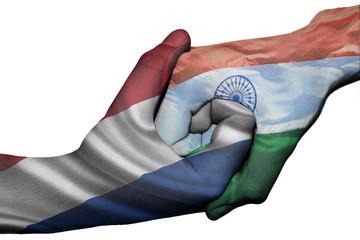 Handshake between Netherlands and India