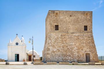 Wehrturm bei Capo Colonna, Kalabrien, Italien