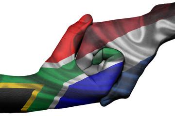Handshake between South Africa and Netherlands