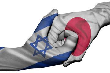Handshake between Israel and Japan